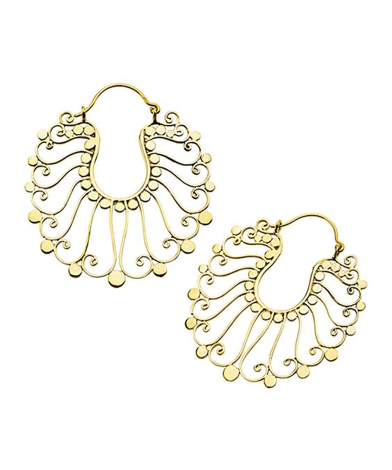 Look at this Goldtone Oculus Drop Earrings on #zulily today!