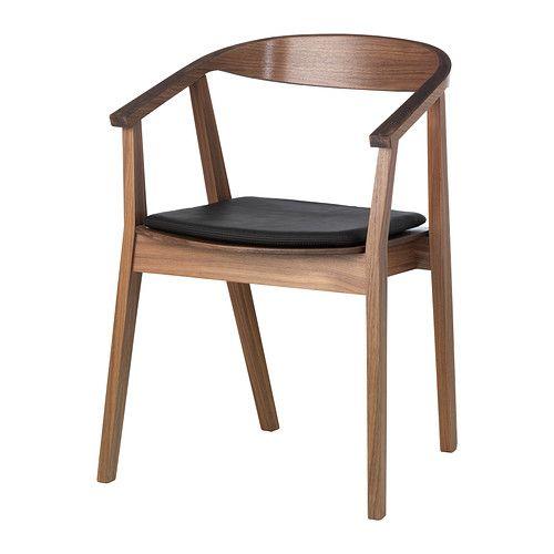 stockholm chair ikea the softly curved back armrests and. Black Bedroom Furniture Sets. Home Design Ideas