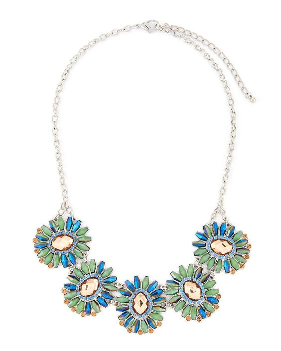 Beaded Floral Statement Necklace-Gabrielle K New York-Featured Brands-Watches…
