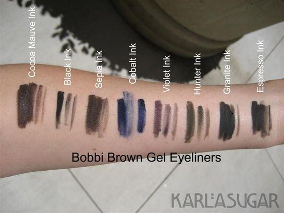 ผลการค้นหารูปภาพสำหรับ bobbi brown long wear gel eyeliner 7 espresso ink
