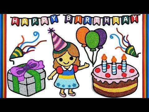 Birthday Cake Warna Warni Belajar Menggambar Dan Mewarnai Untuk Anak Youtube