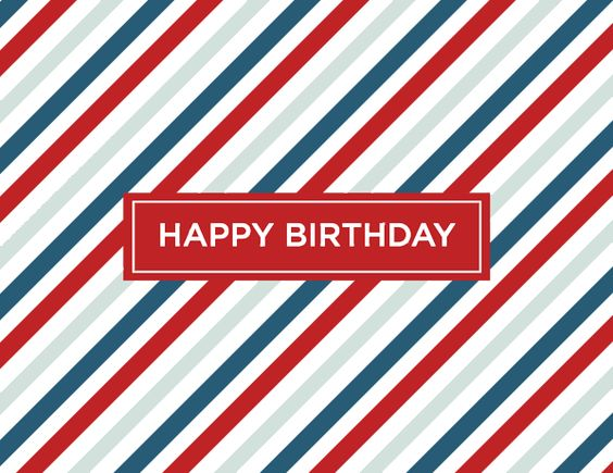 Red Stripes Birthday by Kelp Designs on Postable.com