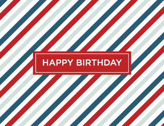Red Stripes Birthday by Kelp Designs on Postable.com