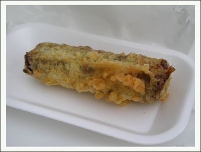 No shit! I do have to admit to thinking this was a joke when I first heard about it. It is an ordinary Mars bar normally fried in a type of batter commonly used for fish and chips. It originated a...