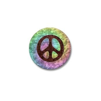Peace sign mini button.
