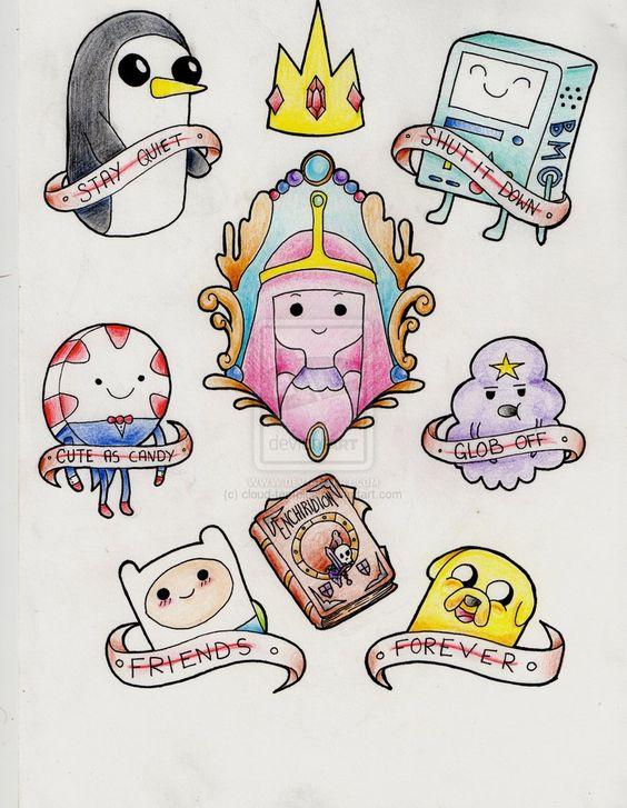 Tatuagens Adventure Time Pesquisa Google Quero