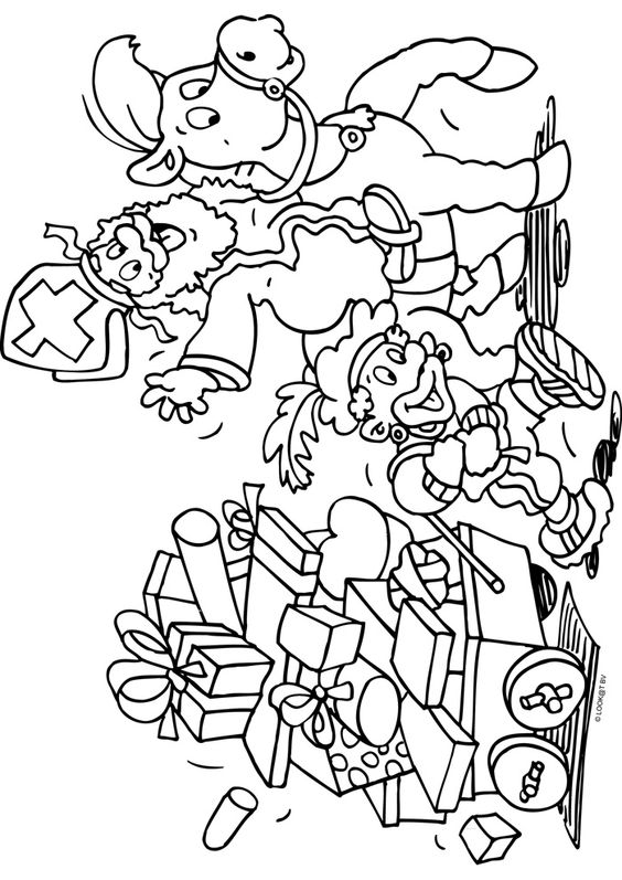 Sinterklaas En Piet Kleurplaten Google Zoeken