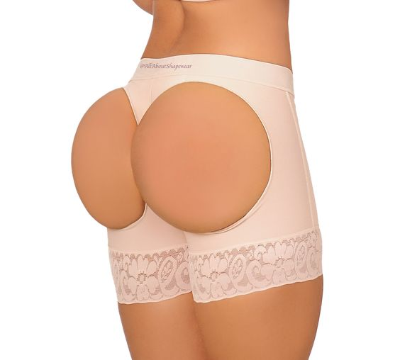 Fajas Colombinas Womens Push Ups Buttock Short Open Holes Shapewear/ Levanta Cola con Huecos 0319
