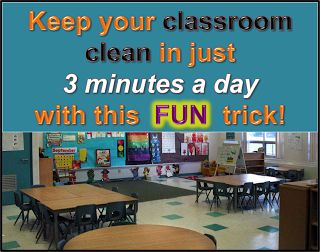 Your Teacher's Aide: The 3 Minute Classroom Clean-Up: