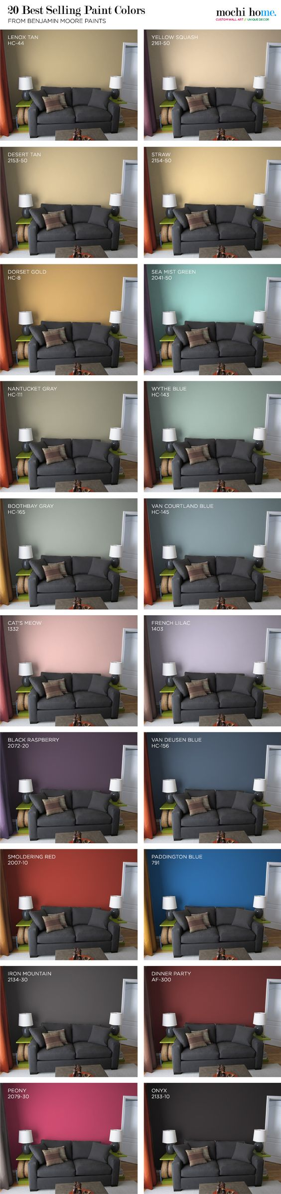 20 best selling paint colors from benjamin moore from for Best colors for selling a house