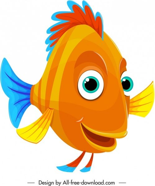 Cartoon Fish Icon Cute Colorful Stylized In 2019 Fish Icon