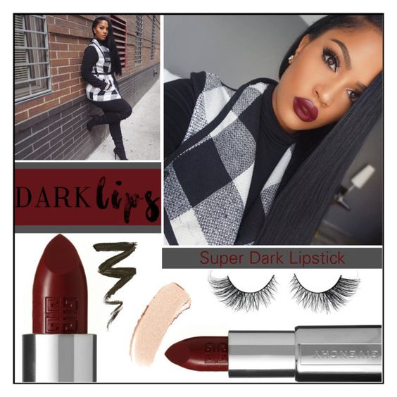 """Dare To Wear: Dark Lipstick 2"" by melindairenes ❤ liked on Polyvore featuring beauty, Givenchy, Bobbi Brown Cosmetics and darklips"