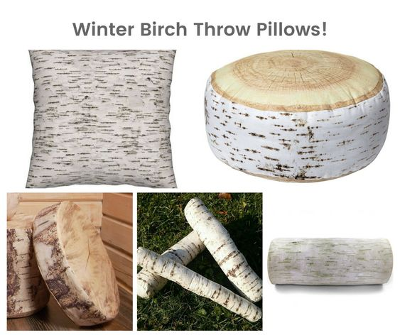 Winter Birch Throw Pillows