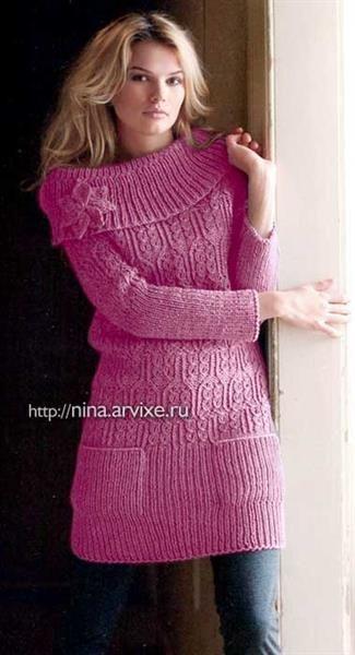 Платье вязаное размер 50