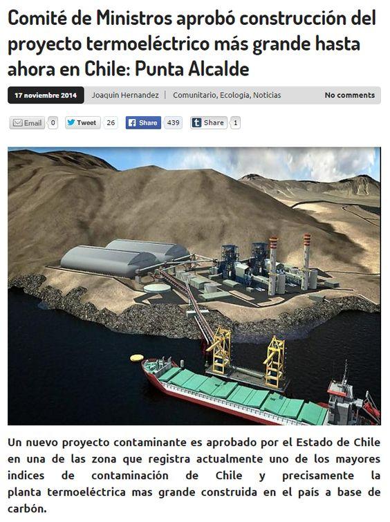 Michele Bachelet lo hizo otra vez! #Termoeléctrica #PuntaAlcalde