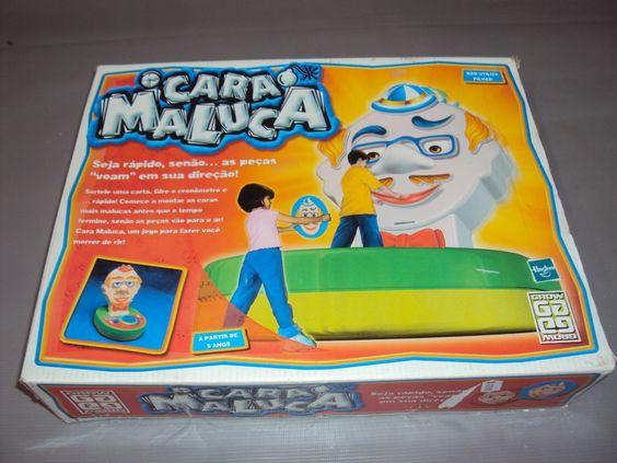 Brinquedo Antigo, Jogo Cara Maluca Da Grow Completo. - R$ 50,00 no MercadoLivre