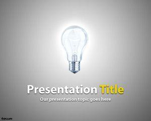Plantilla PowerPoint de Idea Brillante PPT Template