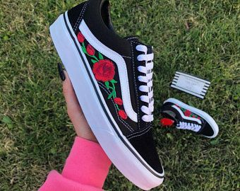 vans old skool con rose donna