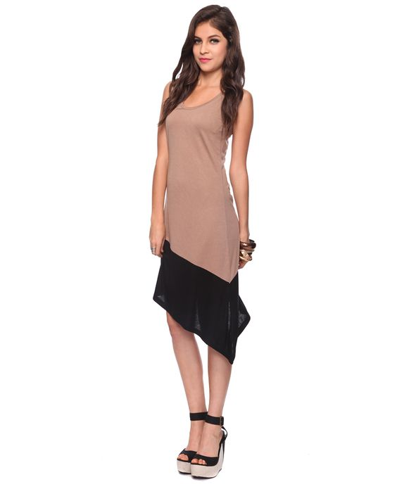 Colorblock Mid Shift Dress | FOREVER21 - 2000039683