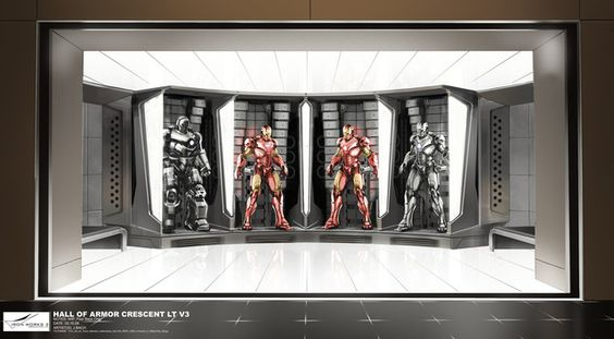 Iron Man 2 concept artwork by Jonathan Bach