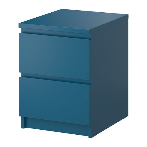 Malm chest with 2 drawers ikea can also be used as a for Ikea nightstand shelf