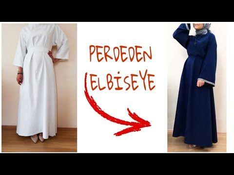 Perdeden Elbise Dikimi Ilk Kez Elbise Diktim I Sewed The Dress With The Curtain Youtube Elbise The Dress Dikis