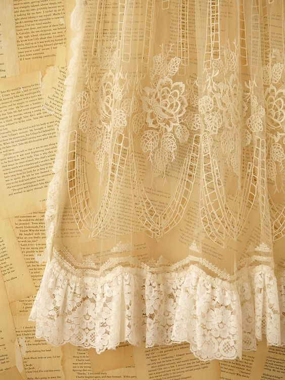 real lace. love it sooo much.