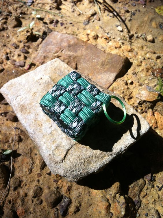 cool paracord cube keychain go to my facebook page