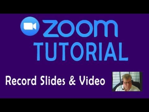 Zoom Tutorial 2 Recording A Powerpoint Video With The Zoom