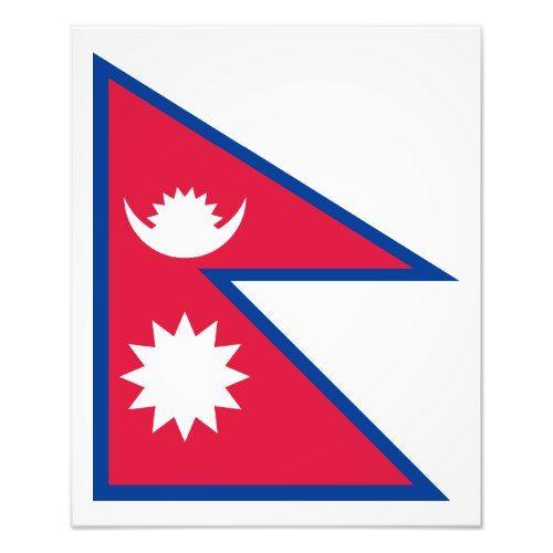 Nepal Nepali Flag Photo Print Zazzle Com In 2020 Nepali Flag Nepal Flag Flag Photo