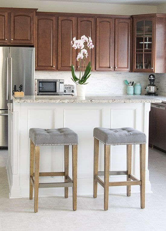 Kitchen Makeover Reveal Craving Some Creativity Kitchen Solutions Bar Stools Kitchen Furniture