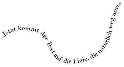 Text auf eine Linie/Form bringen