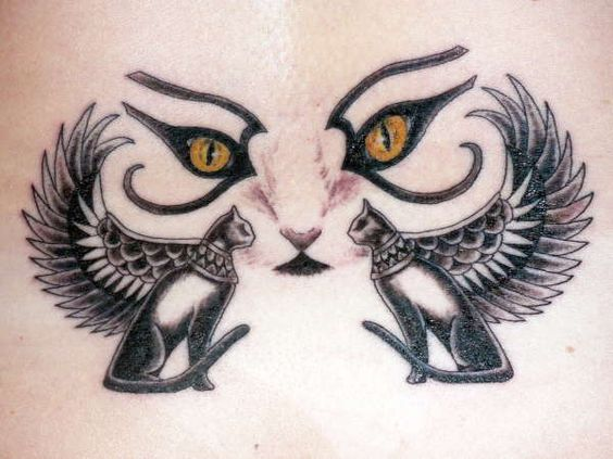 Pin Tatuaje De Gatos Egipcios Egipto Tattoos Picture To Pinterest
