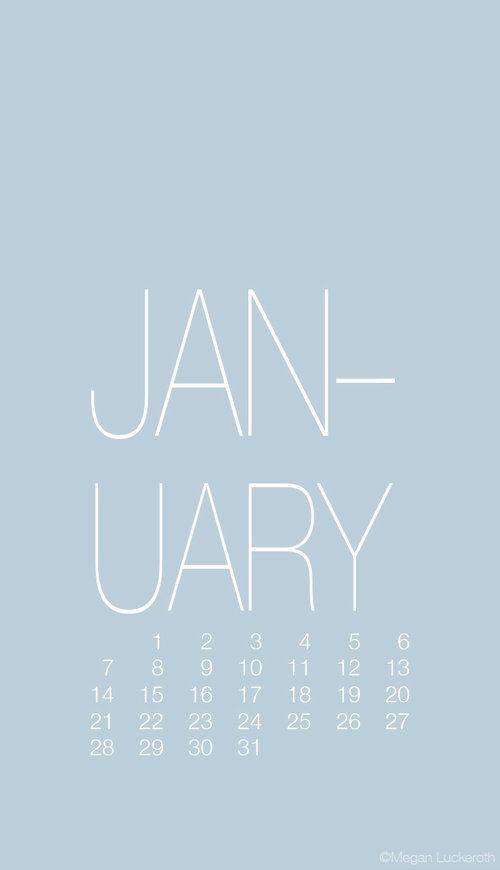 January Calendars Wallpapers Megan Luckeroth Calendar Wallpaper Blue Wallpaper Iphone Blue Calendar