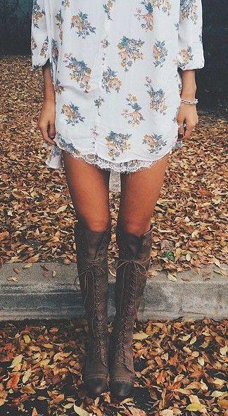 eu gosto da combinação: vestido + botas
