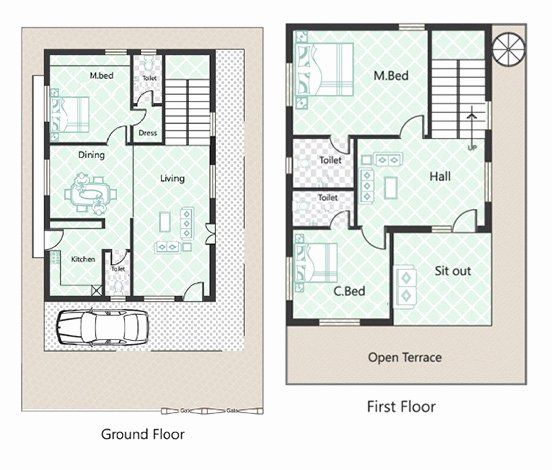 45 Foot Wide House Plans Lovely 25 Feet By 40 Feet House Plans Decorchamp In 2020 House Plans Barn House Plans 2bhk House Plan