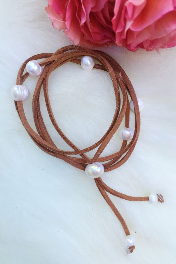 Feminine Statement Bracelet in Brown