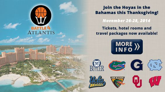 Where will you be for Thanksgiving? How about the Bahamas?!! Buy your tickets now on: http://www.wearegeorgetown.com/tickets/ Get them early before they run out! #HoyaSaxa #Hoyabasketball #georgetown  #basketball