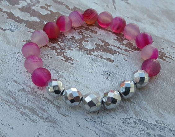 Hey, I found this really awesome Etsy listing at https://www.etsy.com/listing/398783737/boho-stretch-bracelet-pink-and-silver