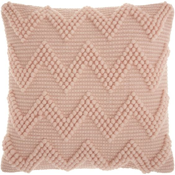Mina Victory Life Styles Large Chevron Rose Throw Pillow (20-inch x 20-inch) by Nourison