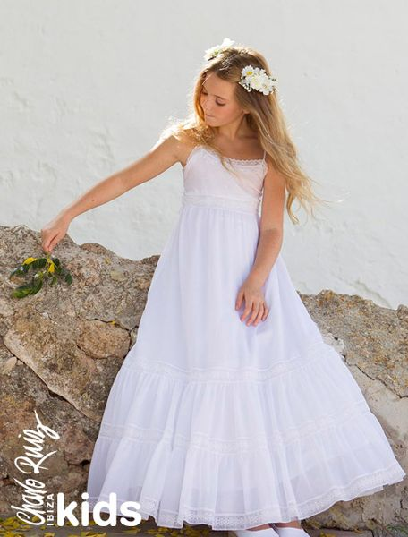 Vestido de ceremonia para niñas de Charo Ruiz Ibiza Kids flowergirl pajes tendenciasdebodas