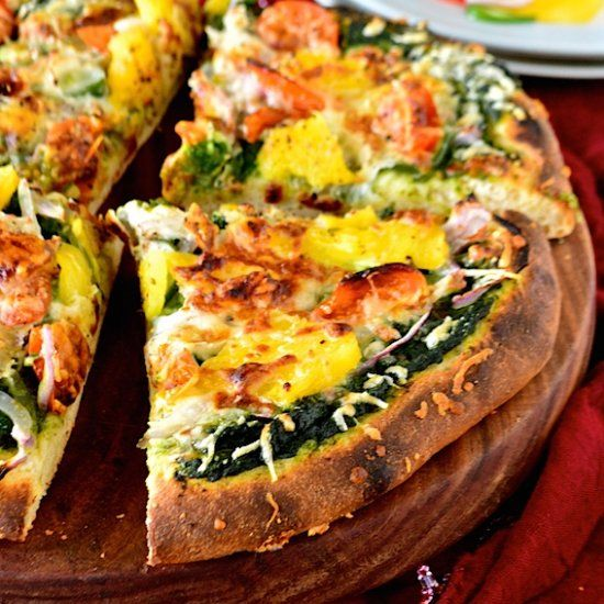 Whole wheat pizza, Indian style and Pizza on Pinterest