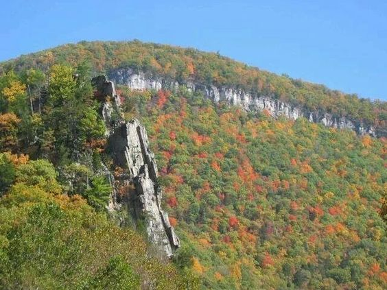 Eagle Rock in Grant County, West Virginia by Salle Mickey