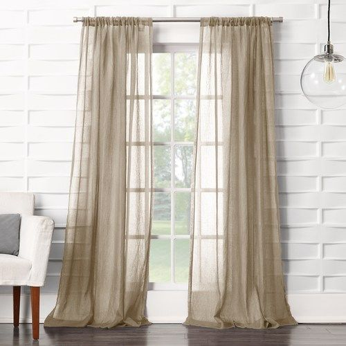 No 918 1 Panel Lourdes Crushed Sheer Window Curtain Sheer