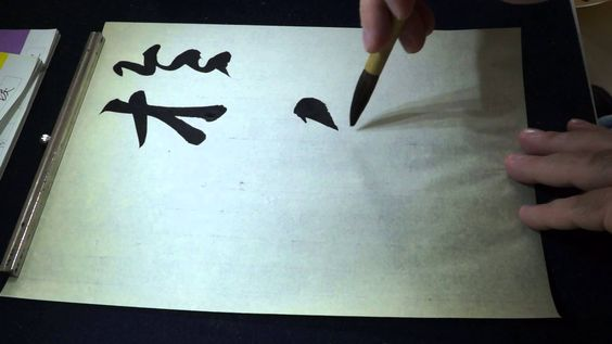 Chinese calligraphy studies - copying a masterpiece by Wang Xizhi