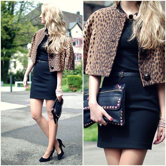 Micheal Kors Blazer, Vintage Necklace, Zara Dress, Mexx Shoes