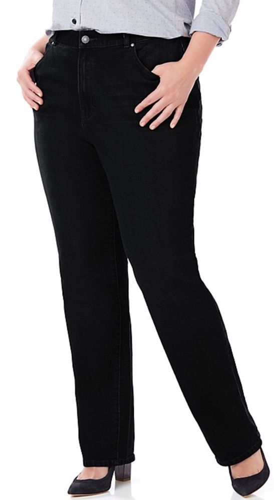 Catherines right fit curvy jeans - black - plus size 28w