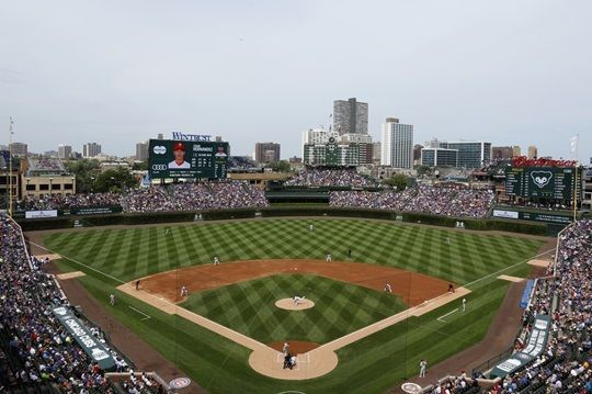 Wrigley Field During A Game Chicago Illinois Home Of The Cubs In 2020 Wrigley Field Baseball Canvas Wrigley