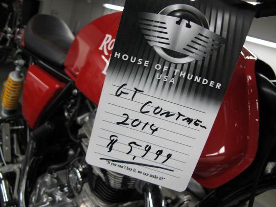 2014 #RoyalEnfield #GTContinental - $5,999 - http://houseofthunderusa.com