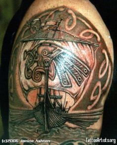 Vikings... I'm not a fan of tatoos but this is beautiful artwork.